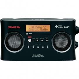 Sangean DPR-25+ stereo digitale radio met DAB+ en FM ontvangst, zwart