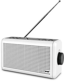 Nordmende Transita 210 stereo oplaadbare en draagbare DAB+ en FM radio met Bluetooth, wit