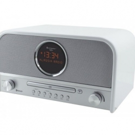 Soundmaster NR850WE stereo retro DAB+ en FM radio met CD, Bluetooth en USB, wit