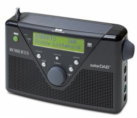 Roberts SolarDAB radio met DAB+ en FM met zonnepaneel, in zwart