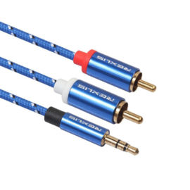 Stereo kabel: 3.5mm mini-jack naar dubbel tulp - 180 centimeter