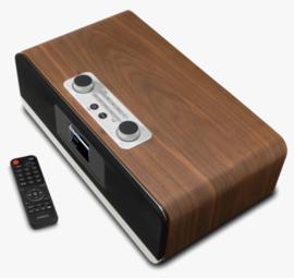 Roberts Stream 67 Smart Audio Systeem met internetradio, Multiroom, DAB+, FM, USB, Spotify en Bluetooth, walnut