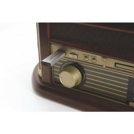 Soundmaster NR545DAB retro muzieksysteem, platenspeler, CD, DAB+, FM, Cassette en USB