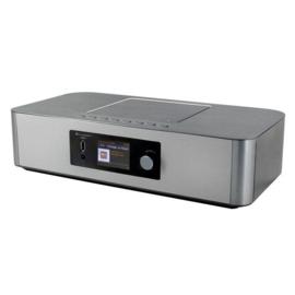 Soundmaster ICD2020 Internet radio met DAB+, FM, Bluetooth, CD- en netwerkspeler, zilver
