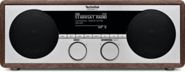 TechniSat DigitRadio 450 stereo houten internetradio met DAB+ en FM, houtkleur