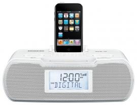 Sangean DCR-10 DAB+ / FM wekkerradio met docking en opname, wit
