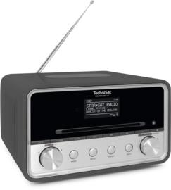 TechniSat DigitRadio 585 stereo internetradio met CD, USB, DAB+ en Bluetooth, antraciet