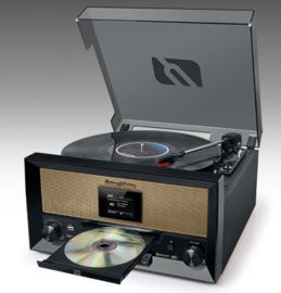 Muse  MTB-110DAB stereo vintage muziekcenter met DAB+, FM, CD, USB, platenspeler en Bluetooth