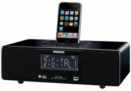 Sangean DDR-33+ tafelradio met DAB+, FM en Apple docking, hoogglans zwart
