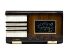 A.bsolument Nr. 513 - Echte Vintage Jaren 40 Radio met Bluetooth en audio ingang