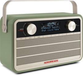 Nordmende Transita 120 oplaadbare draagbare DAB+ en FM radio, groen