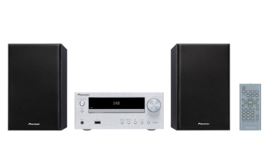 Pioneer X-HM26D stereo HiFi systeem met CD, DAB, FM, Bluetooth, zilver
