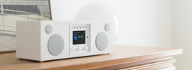 Como Audio Duetto hifi stereo alles-in-1 radio met wifi internet, DAB+, Spotify en Multi room, Piano White