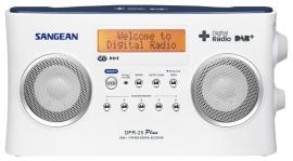 Sangean DPR-25+ stereo digitale radio met DAB+ en FM ontvangst, wit