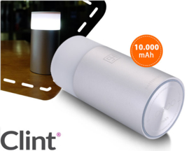 Clint Digital Powerbank 10.000 mAh met LED lamp