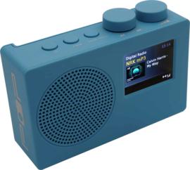 POP RADIO POPdeluxe DAB+/FM radio met kleurenscherm, alarm en 40 presets, blauw