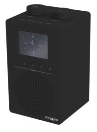 POP RADIO myPOP DAB+/FM radio met 2 instelbare alarmen, analoge ingang & uitgang én eierwekker-functie, zwart