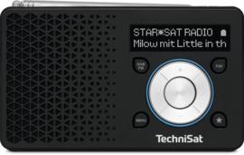 TechniSat DigitRadio 1 portable DAB+ en FM radio met  oplaadbare accu, zwart-zilver