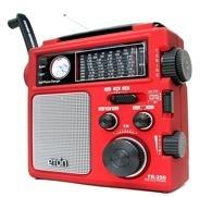 Eton FR250 opwindradio (AM / FM / SW, Rood)