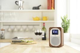 Pure Evoke H3 compacte DAB+, FM en Bluetooth keuken radio, walnoot