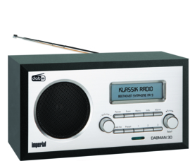 Imperial DABMAN 30 retro houten DAB+ en FM radio, zwart