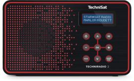 TechniSat TechniRadio 2 DAB+ en FM radio, zwart-rood