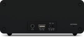 TechniSat DigitRadio 52 stereo wekker radio met DAB+ en FM, draadloos Qi laden, antraciet