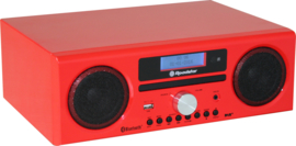 Roadstar HRA 9 RD stereo DAB+ radio met CD, USB en Bluetooth, rood