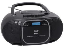 Trevi CMP 576 draagbare boombox radio met DAB+, FM, CASSETTE, USB en CD speler