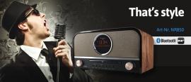 Soundmaster NR850 stereo retro DAB+ en FM radio met CD, Bluetooth en USB