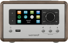 sonoro RELAX SO-810 V2 internetradio met DAB+, FM, Spotify, Bluetooth en USB, walnut