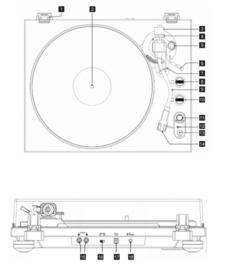 GPO PR100 & PR200 hifi stereo set met DAB+, FM, Bluetooth, CD, USB en LP, OPEN DOOS