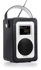 Steljes audio SA60 draagbare oplaadbare streaming internetradio met DAB+, FM, Bluetooth en Spotify connect, zwart