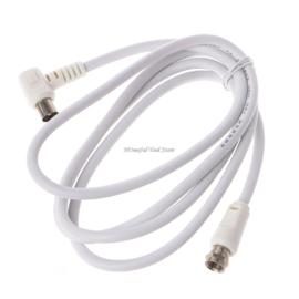 Coax kabel F connector naar coax plug, 150 cm