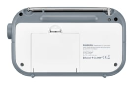 Sangean TRAVELLER 420  ( DPR-42BT ) DAB+ draagbare radio met FM en Bluetooth, WHITE - STONE BLUE