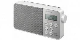Sony XDR-S40 ultracompacte retrostijl radio met FM en DAB+, in wit