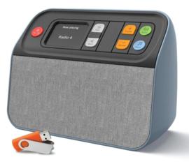 Unforgettable DAB+ en FM radio  met USB muziekspeler, zeer makkelijk te bedienen, dementie radio, blauw