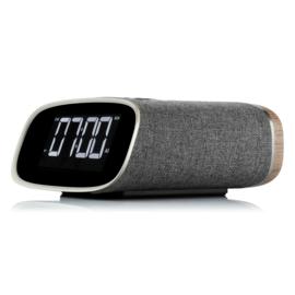 View Quest Lark DAB+ wekkerradio met FM en Bluetooth, Dark Grey Walnut