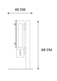Geneva Cinema+ stereo hifi TV oplossing, optionele tafelstand