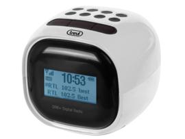 Trevi RC 80D2 wekker radio met DAB+ en FM, wit