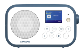 Sangean TRAVELLER 420  ( DPR-42BT ) DAB+ draagbare radio met FM en Bluetooth, WHITE - INK BLUE