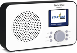 TechniSat Viola 2 C digitale portable radio met DAB+ en FM, wit-zwart