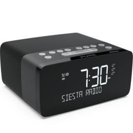 Pure Siesta Charge DAB+ wekker radio met Qi draadloze telefoonoplader en Bluetooth, Graphite