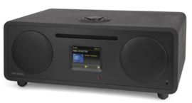 Tiny Audio Wide alles-in-een muzieksysteem met internetradio, DAB+, CD, USB, Bluetooth en Spotify, zwart