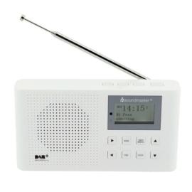 Soundmaster DAB160 WE kleine oplaadbare radio met DAB+ en FM, wit