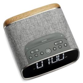 View Quest Lark DAB+ wekkerradio met FM en Bluetooth, Light Grey Oak