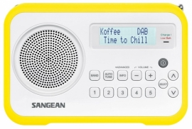 Sangean DPR-67 portable digitale DAB+ en FM radio, geel