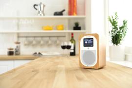 Pure Evoke H3 compacte DAB+, FM en Bluetooth keuken radio, eiken