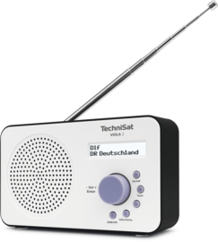 TechniSat Viola 2 digitale portable radio met DAB+ en FM, wit-zwart