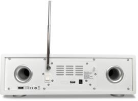 P TEC Pilatus stereo internet radio met DAB+ ontvangst, FM, Bluetooth, CD, USB en analoge ingang, walnoot
